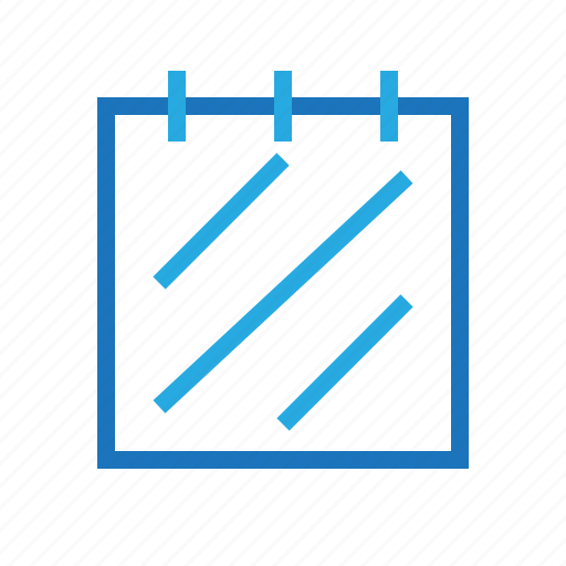 blue, document, office, text icon