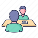 business, deal, discussion, document, group, meeting icon