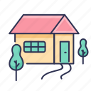 home, house, tree icon