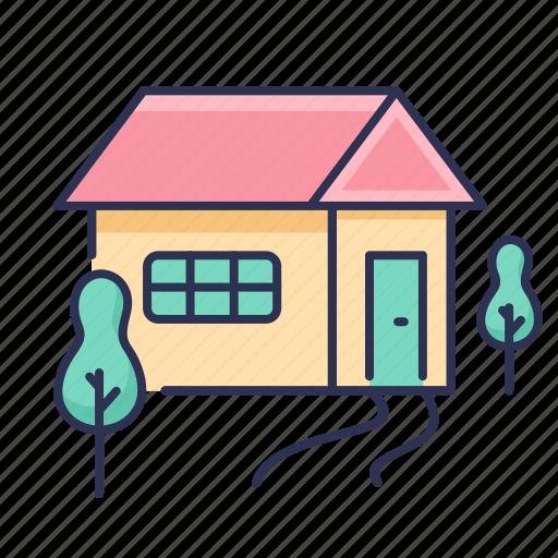 home, house, tree icon