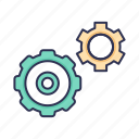 business, gear, setting, work, working icon