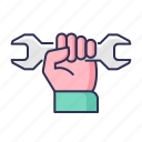 hand, maintenance, repair, service, tool icon