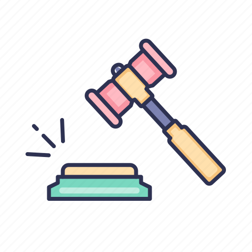 bid, business, justice, law, order icon