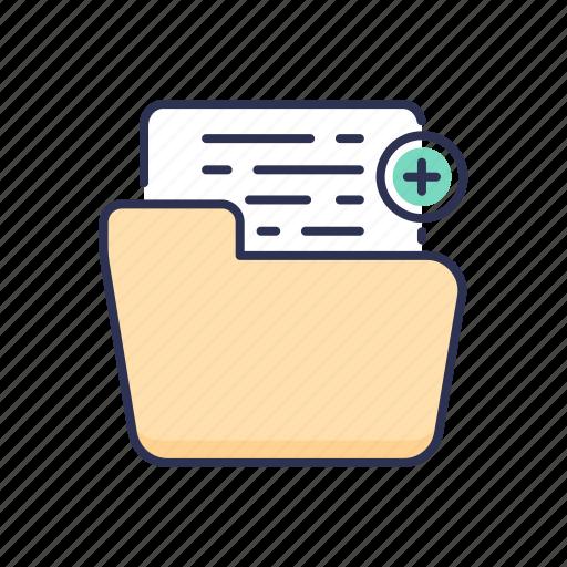 add, document, file, folder icon