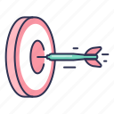 arrows, goal, hit, success, target icon