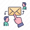 email, letter, mail, people, target, target email icon