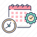 appointment, calander, clock, event, plan, setting, time icon