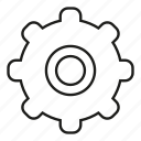 cog, gear, mechanic, setting icon