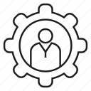 cog, gear, people icon