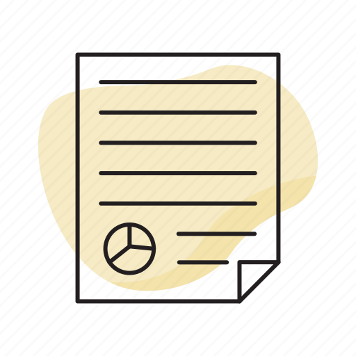 business, list, pie chart, report icon