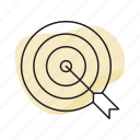 arrow, business, goal, target icon