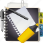 address, book, business, document, note, office, pen, text icon