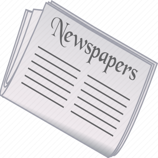 newspaper, office icon