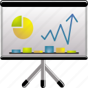 board, charts, financial, graph, office, presentation, statistic, statistics icon