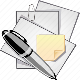 business, documents, files, note, office, paper, pen, write icon