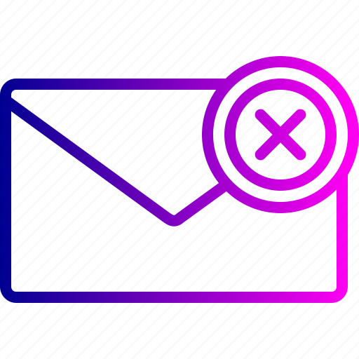 email, fail, letter, message, office, receive, send icon