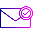 email, envelope, letter, mail, message, office, receive icon
