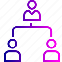 boss, company, employee, hierarchy, hybrid, level, team icon