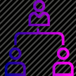 boss, company, employee, hierarchy, hybrid, level, team icon