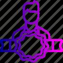 avatar, award, bedge, employee, man, office, user
