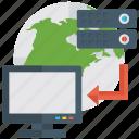 data transfer, data transmission, database, online data, online data transfer icon
