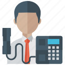business call, calling, communication, phone call, telemarketing icon