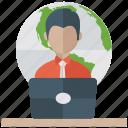 ecommerce, online business, online job, online work, web work icon