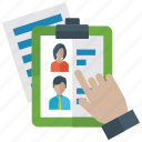 candidate selection, employee selection, hiring, recruitment, resource, selected person icon