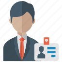 authority card, business card, id card, identity card, office card, student card icon