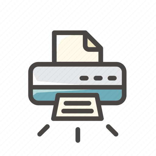 Print, printer, sheet, paper, office, document, file icon