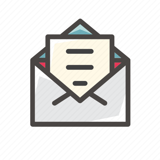 communication, email, envelope, interaction, letter, mail, message icon