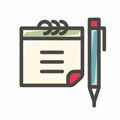 calendar, date, event, office, pen, schedule, write icon