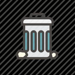 bin, delete, dustbin, empty, garbage, trash icon