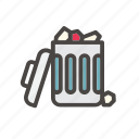 bin, delete, dustbin, full, garbage, remove, trash icon