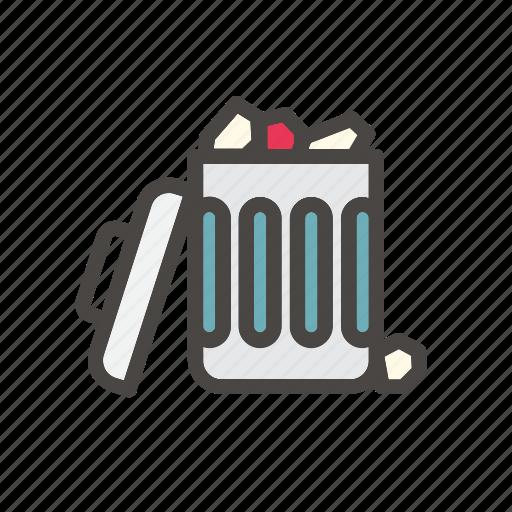 bin, delete, dustbin, full, garbage, remove, trash icon