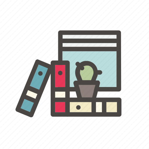 Cactus, files, folders, office, work, archive, desk icon - Download on Iconfinder