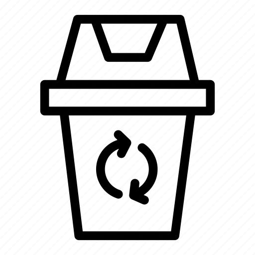 bin, office, recycle, trash, work room icon