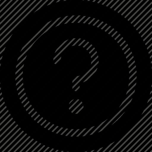 faq, help, question, sign icon