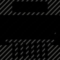 document, paper, shredder icon