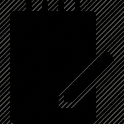 book, note, notebook, sketch book icon