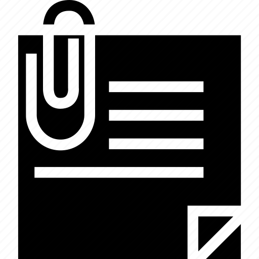 business, file, minimalist, office, paper, paper clip, professional icon