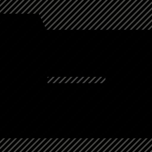 business, decreasing, folder, minimalist, minus, office, professional icon