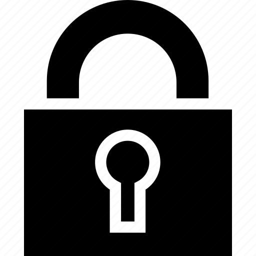 business, lock, minimalist, office, padlock, professional, secure icon