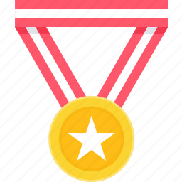 achievement, award, badge, medal, reward, star, winner icon