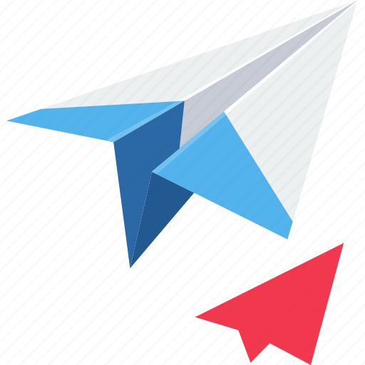 aircraft, airplane, paper plane, paperplane, plane, post, send icon