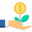 bank, ecology, green, grow, money plant, plant, savings icon