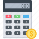 accounting, calc, calculation, calculator, device, finance, math icon