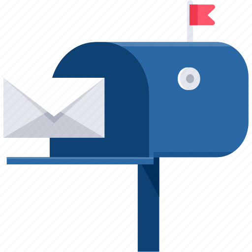 box, guidepost, letter, letterbox, mailbox, post, postbox icon