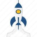 business, launch, misille, rocket, space, spacecraft, startup icon