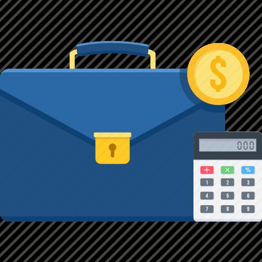 accountant, business, calculator, finance, marketing, portfolio, revenue icon